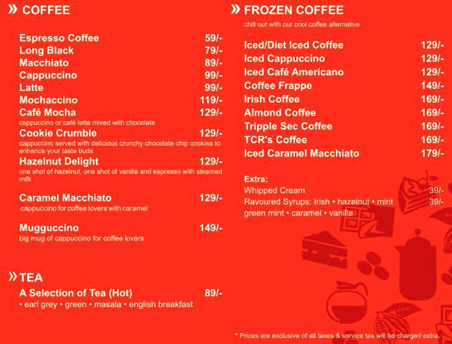 Australia's The Chocolate Room menu 14