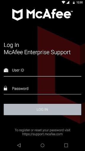 McAfee Enterprise Support screenshot 1
