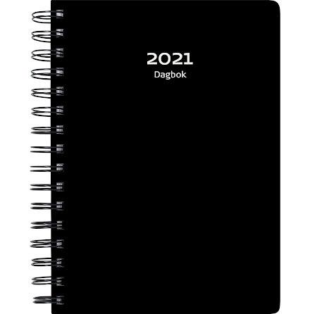Dagbok plast svart