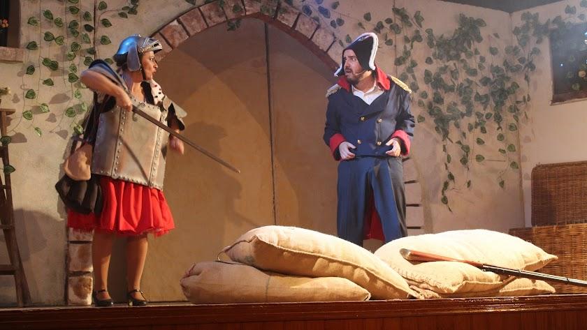 Interpretación obra de teatro La Hija de la Generala, el pasado domingo 18 de octubre en Pulpí.
