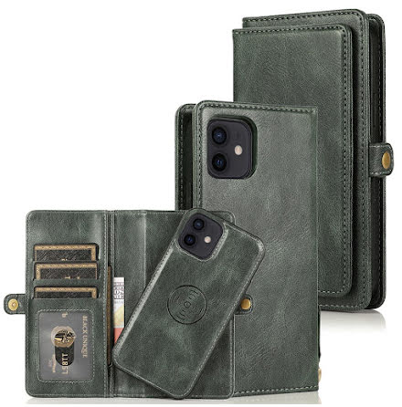iPhone 12 - Praktiskt Stilrent 2 i 1 Plånboksfodral