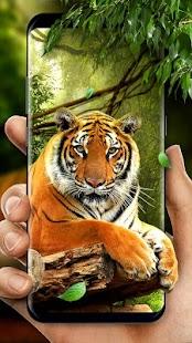Moving Tiger Live Wallpaper - náhled