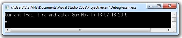 Hàm ctime convert timer thành thời gian định dạng hh:mm:ss