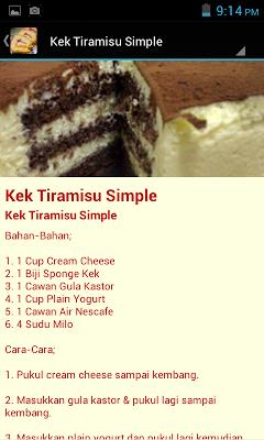 Resepi Kek Terbaik - screenshot