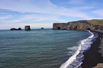 Photo: Plaża Vík u podnóża lodowca Mýdalsjökull. Czarna.