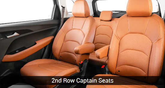 mg hector plus middle row captain seat