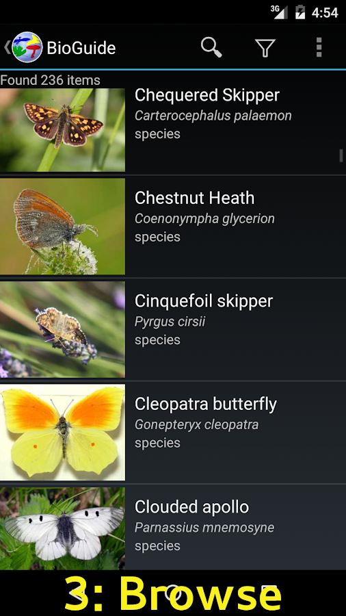 BioGuide - World Field Guide- screenshot