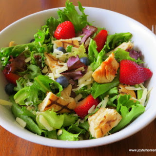 Wendy's Copycat Berry Almond Chicken Salad.