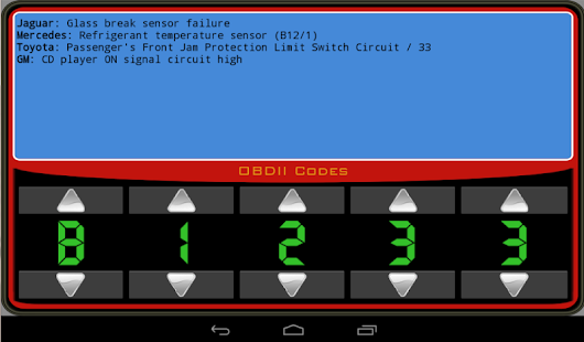 OBDII Trouble Codes Lite- screenshot thumbnail