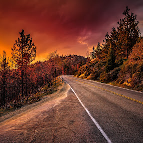 Fire in the Sky!  by Matthew Clausen - Landscapes Sunsets & Sunrises ( sky, nature, california, sunset, landscape, fire,  )