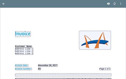 Invoice App - náhled