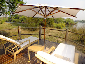 Photo: A great place to relax with your own private view of the Zambezi River at Susi & Chuma: http://www.go2africa.com/zambia/victoria-falls/livingstone/safari-game-lodges/sussi-chuma
