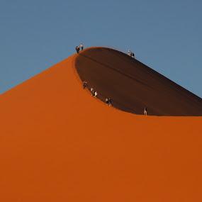 Dune walking by Cheryl Korff - Landscapes Deserts