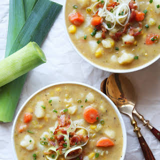 Creamy Vegetable Soup with Leek (dairy-free).