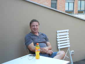 Photo: Our friend Roger Sayre arrived midway through our time in Bologna, and stayed with us for a week.