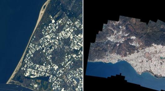 Astronauta actualiza la imagen de los invernaderos de El Ejido desde el espacio