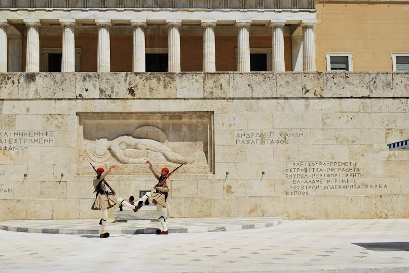 The Parliament House, changing guards, Athens