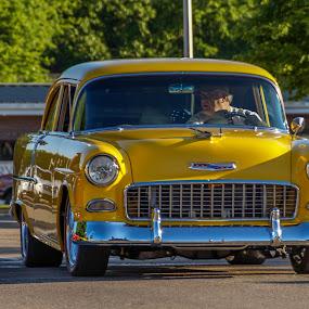 Ol Yeller by Jim Harris - Transportation Automobiles ( classic car, 55, yellow, chevy, antique )
