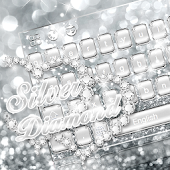 Silver Diamond Keyboard Theme