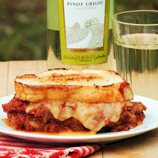 BBQ Pulled Pork and Smoked Gouda Grilled Cheese