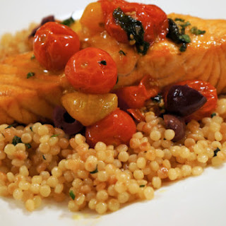 Salmon with Tomato Confit and Couscous