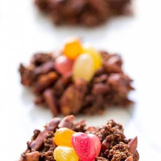 Dark Chocolate Quinoa Birds Nest Cookies.