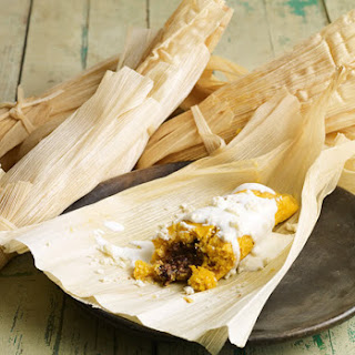 Sweet Potato and Black Bean Tamales.