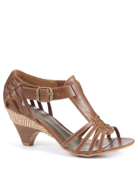 Photo: Brown Woven Heeled Sandal £19.99 http://bit.ly/KZErUT