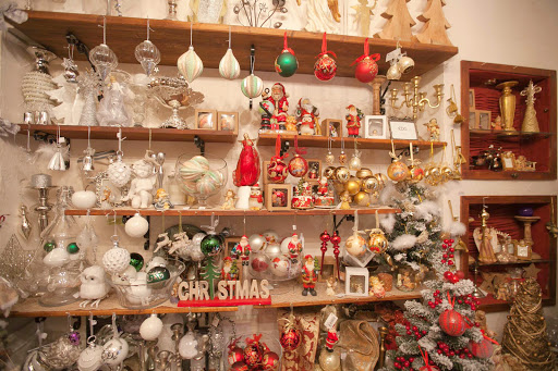 Christmas-ornaments-in-Dubrovnik.jpg - Christmas ornaments line a shop's shelves during the holidays in Dubrovnik.