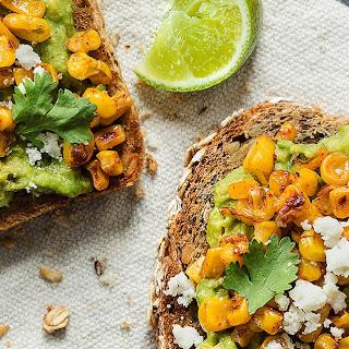 Avocado Toast with Blackened Corn & Queso Fresco Recipe