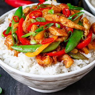 Spicy Chicken and Vegetable Stir Fry.