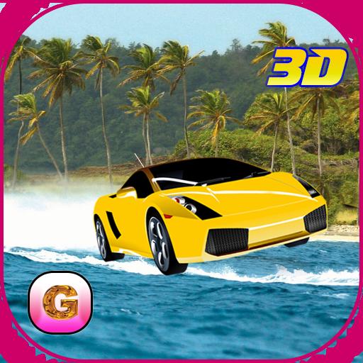 模拟のフローティングボート車:フライング車 LOGO-HotApp4Game