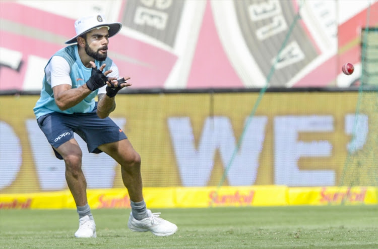Captain Virat Kohli of India during the Indian national mens cricket team training session and press conference at SuperSport Park on January 12, 2018 in Pretoria, South Africa.