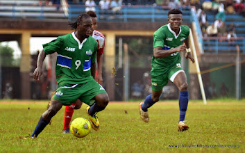 Photo: Ibrahim Kally and Mohamed Kamanor [Leone Stars v Seychelles, Freetown, 19 July 2014 (Pic: Darren McKinstry)]