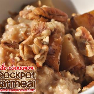Crockpot Steel Cut Oatmeal {Apple Cinnamon}.