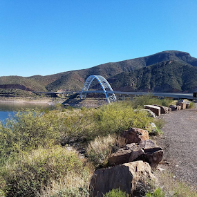 Bridge Over Roosevelt Lake, Arizona by Tom MostlyGerman - Buildings & Architecture Bridges & Suspended Structures