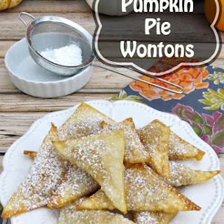 Pumpkin Pie Wontons.