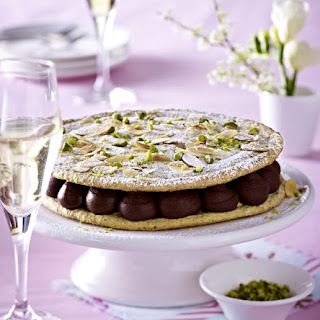 Pistachio Dacquoise with Chocolate Cream