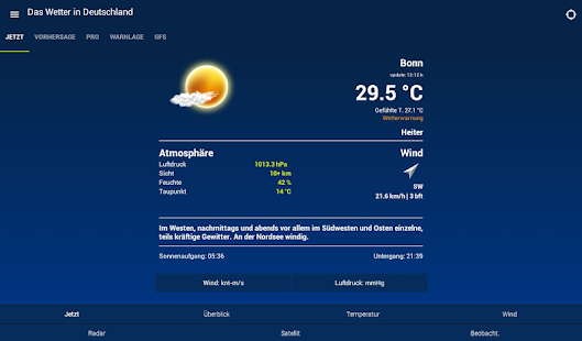 The Weather in Germany: Radar, weather warnings APK image thumbnail 8
