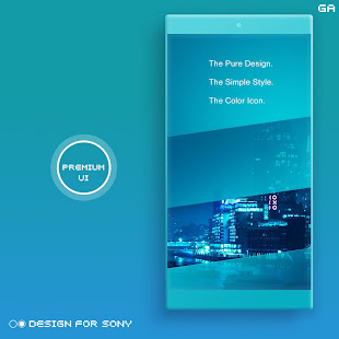 Download LITTLE™ XPERIA Theme | A CYAN  apk screenshot 1