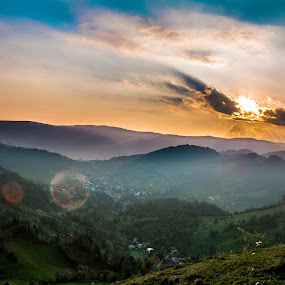 sunset by Raluca Bălan - Landscapes Sunsets & Sunrises ( mountains, nature, green, sunset, landscape,  )
