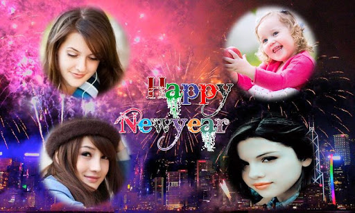 New year photo collage 2016