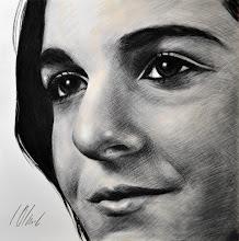 Photo: Paloma, grafito y lápiz carboncillo