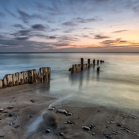 Hornsea Beach by Phil Green - Landscapes Waterscapes ( hornsea, seascape, breakwater, beach, east yorkshire )