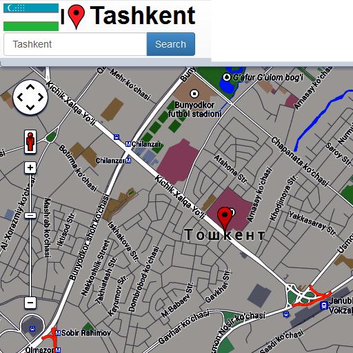 Tashkent maps