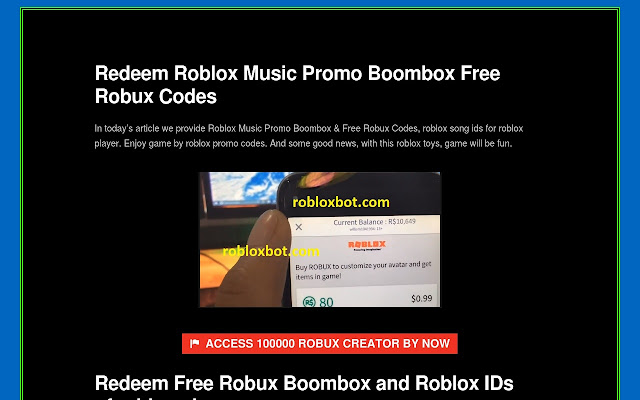 Inspired Robloxbot Roblox Free Robux Codes Boombox Extorespace