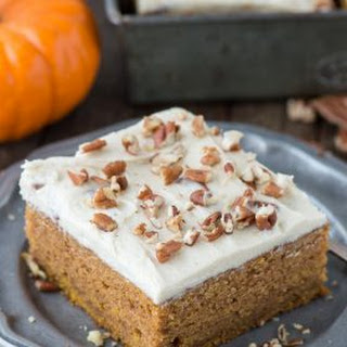 Pumpkin Cake with Butter Pecan Frosting