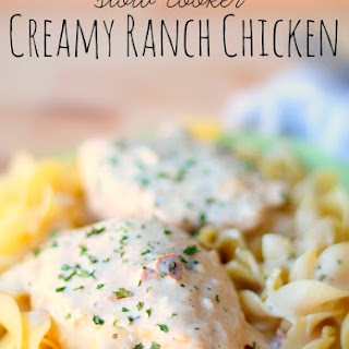 Slow Cooker Creamy Ranch Chicken.