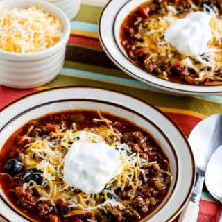 Instant Pot Low-Carb Ground Beef Olive Lover's Chili.