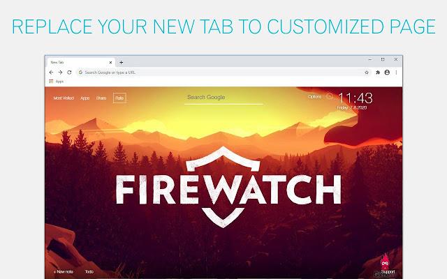 Firewatch Backgrounds New Tab - freeaddon.com